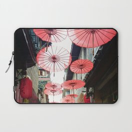 Asia in Red Laptop Sleeve