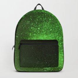 Green and Black Spray Paint Splatter Backpack
