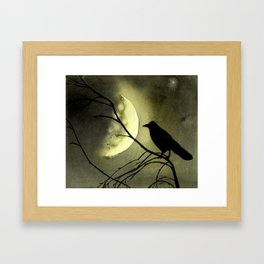 Crow Moon Framed Art Print