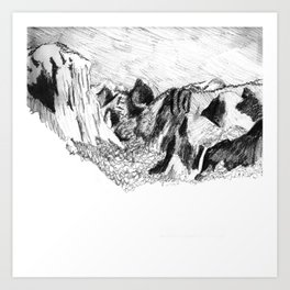 Yosemite Valley from Inspiration Point Art Print