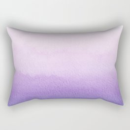 Purple Watercolor Design Rectangular Pillow