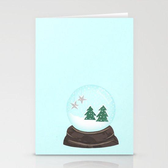 Snow Globe. Stationery Cards