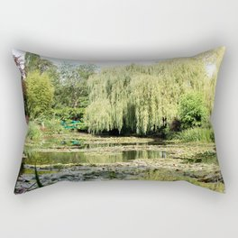 Willow Tree in Monet's Garden  Rectangular Pillow