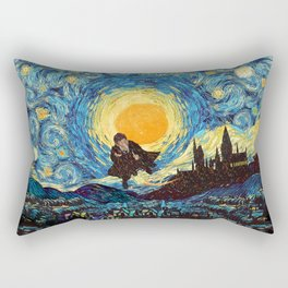 Flaying wizard starry night iPhone 4 5 6 7 8, pillow case, mugs and tshirt Rectangular Pillow