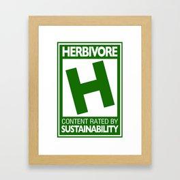 Rated H for Herbivore Framed Art Print