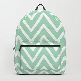 Chevron Wave Mint Backpack