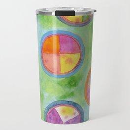 Mixed Colorful Colors in Circles Travel Mug