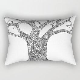 Tree Doodle Rectangular Pillow