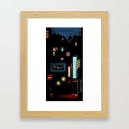 Late Night Neon Lights Framed Art Print