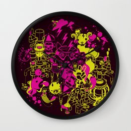 Dream Factory Pink and Yellow Wall Clock
