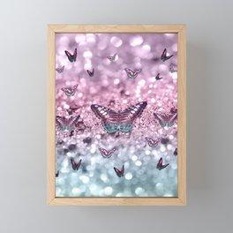 Pastel Unicorn Butterfly Glitter Dream #2 #shiny #decor #art #society6 Framed Mini Art Print