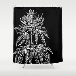 Reverse Cannabis Illustration Shower Curtain