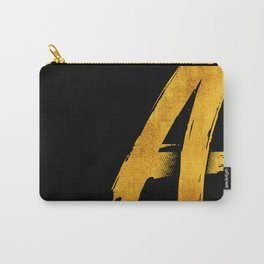 GOLD letter A Carry-All Pouch