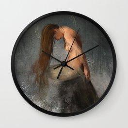 Pensive Mermaid Wall Clock