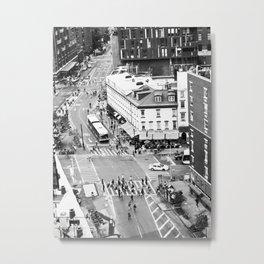 Street people in New York Metal Print