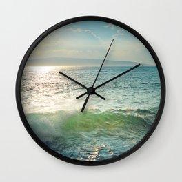 Pā'ako Beach Iridescence Wall Clock