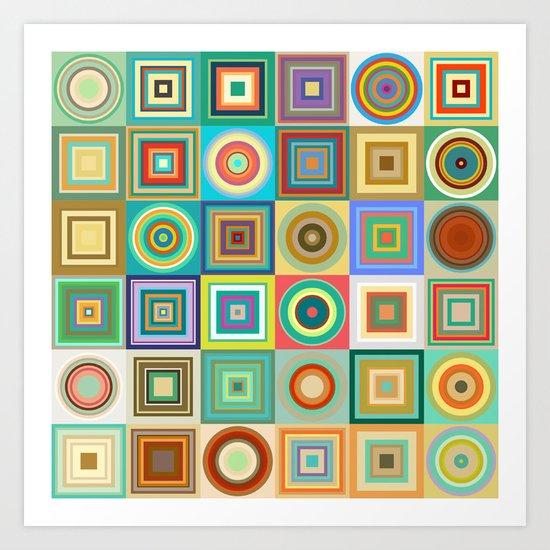 Geometric type Art Print