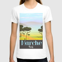 Marche Italy travel poster T-shirt