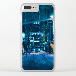 From My Umbrella -Snowy Night- Clear iPhone Case