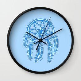Blue Dreamcatcher Illustration Wall Clock