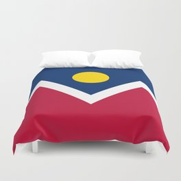 Denver City Flag - Authentic High Quality Duvet Cover