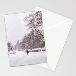 snow days in the park Stationery Cards