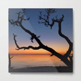 Watercolor Nags Head Sunset Metal Print