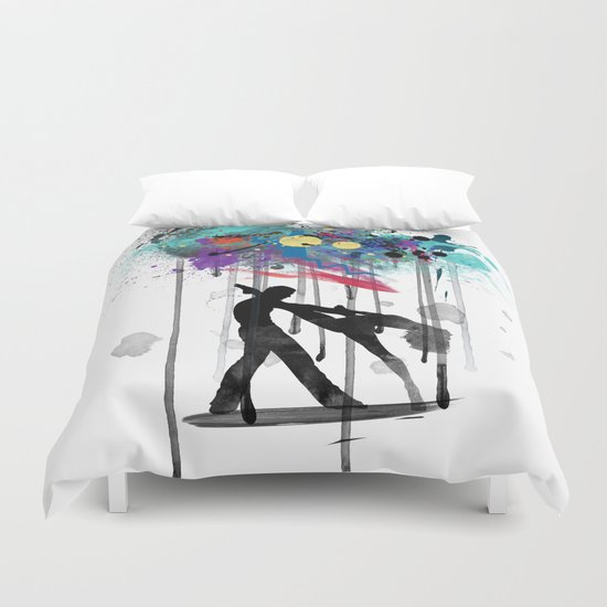 rain again  Duvet Cover