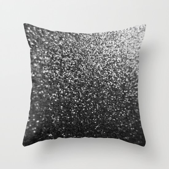 Throw Pillows With Sparkle : Silver Sparkle Glitter Throw Pillow by Wdwfan Society6