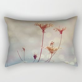 Soft Queen Anne's Lace and Bokeh Rectangular Pillow