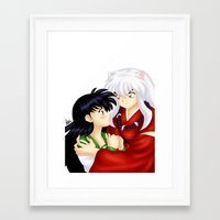 inuyasha Framed Art Prints featuring InuYasha Love by HaruShadows