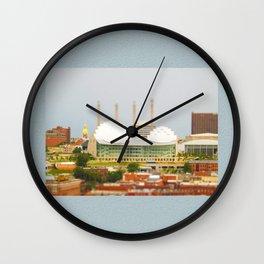 Kansas City Kauffman Center for the Performing Arts Tilt Shift Photograph Wall Clock