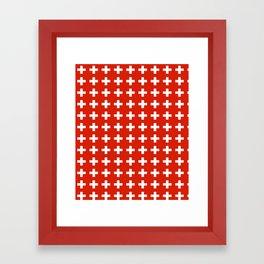 flag of switzerland 2-Switzerland, Alps,swiss,Schweizer,suisse,zurich,bern,geneva Framed Art Print