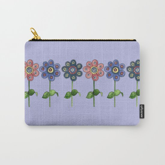Flower Row Carry-All Pouch