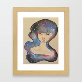 Space Lady Framed Art Print