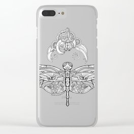 Fly with me through the wind, my dragonfly. Clear iPhone Case