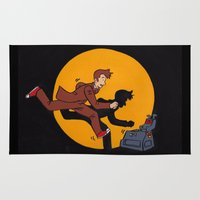 tintin Area & Throw Rugs featuring Les Aventures du Docteur by Meghan M Hawkes
