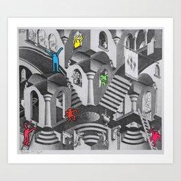 pop escher pt 3 Art Print
