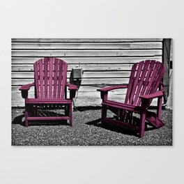 Sit Awhile In Magenta Canvas Print