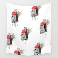 rooster Wall Tapestries featuring Rooster by Imanol Buisan
