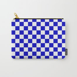 Bright Blue and White Check Pattern - more colors Carry-All Pouch