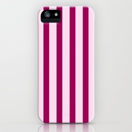 Happy Place Candy Stripes in Pink iPhone Case