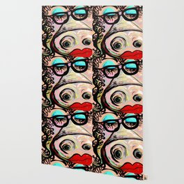 Hipster Pig Wallpaper