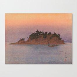 Tomo-no-ura Hiroshi Yoshida Vintage Japanese Woodblock Print Canvas Print