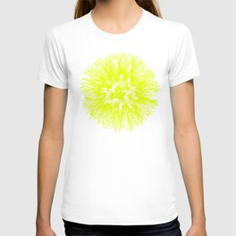 Make A Wish Dandelion Vector In Yellow T-shirt