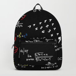 math blackboard Backpack