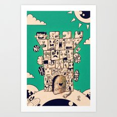 man castle Art Print