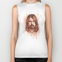 dave grohl Biker Tanks featuring Dave Grohl by Renato Cunha