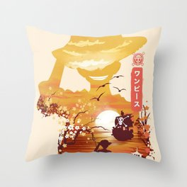 Pirate King One Piece Throw Pillow
