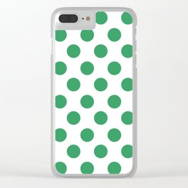 Kelly Green Medium Polka Dots Clear iPhone Case